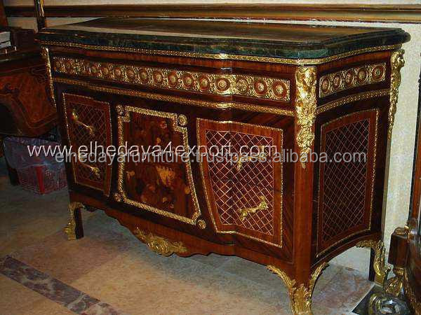 French furniture commode with ormolu antique for French reproduction furniture