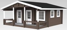 wooded prefab houses villa, cabin