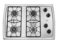 "GE - Gas cooktop - 4 burner - 30"" - Stainless steel - JGP329SETSS"