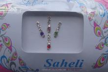 Fashion rhinestone jewelry forehead sticker bindi manufacturer exporter