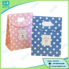 colorful dots art printing custom small size gift paper bag