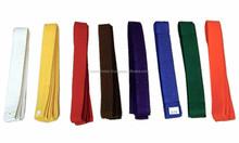 Cheap cost with custom logo bjj jiu jitsu kimono belts / kids judo belts / bjj gi belts