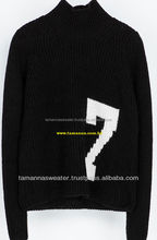 LADIES JACQUARD KNITTED PULLOVER SWEATER