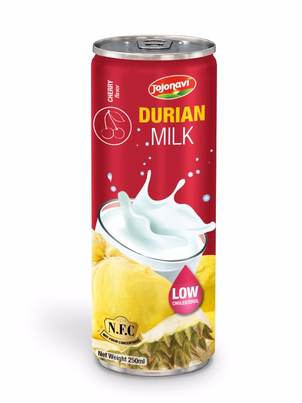 Fruit juice suppliers Durian milk with cherry flavour for alu can 250ml.jpg