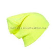 yellow fluorescent beanies