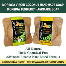 Moringa Handmade Natural Soap with Olive Coconut and Herbals