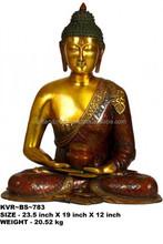 Copper Buddha Statue in Dhyana Mudra