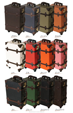 TSA lock carry bag with cool bag classical suitcase style with wheels from japanese manufacture many color fabric ags travel