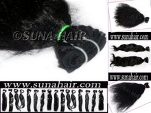 Natural hot sale cheap density human hair for 2012 new top quality sexy popular indian loose bulk hair