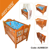 2015 Deluxe Folding Wooden Cot, Baby Cot Crib, Foldable Baby Cot Crib