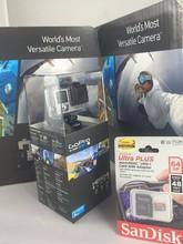 GoPro Hero4 Hero 4 12MP Full HD 4K 30fps 1080p 120fps Built-In Wi-Fi Waterproof Wearable Camera Black Adventure Edition