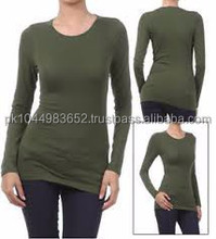 Slim fit bulk plain women fitted blank t-shirts