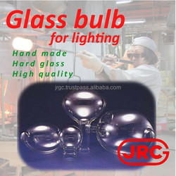 Professional and Handmade round glass light cover for industrial use , Original design available