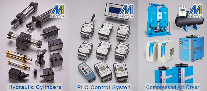 Mindman air regulator, Air filter combination FRL, filter regulator, lubricator, MAL200 series.
