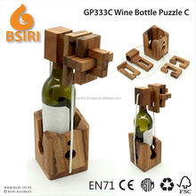 wine bottle puzzle wooden adult puzzles