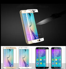 For SAMSUNG GALAXY S6 Edge Screen 3D Curved Tempered Full Cover 9H HD Premium Explosionproof Anti-Scratch Screen Protector