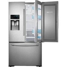 Samsuns 28 Cu. ft. 4-Door Refrigerator with 8 Wi-Fi Enabled LCD and Counter-Height FlexZone Drawer in