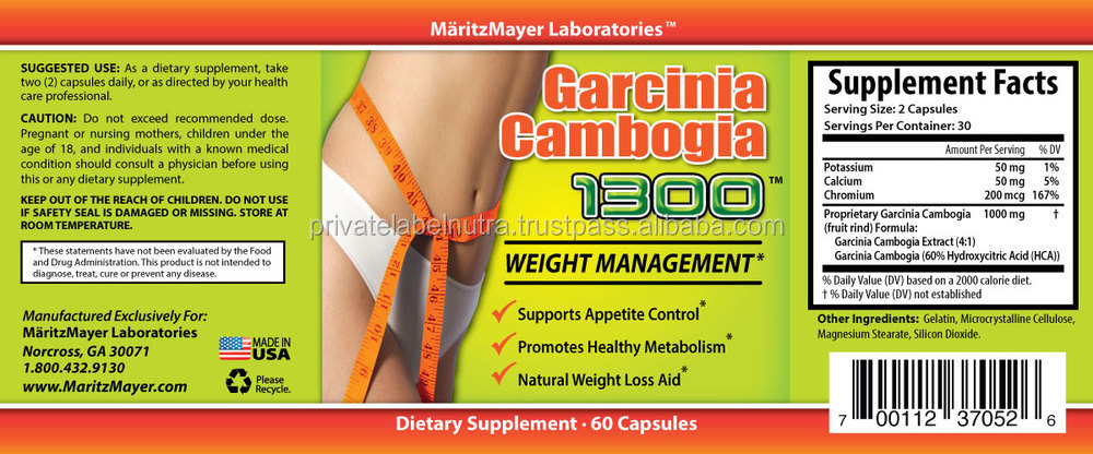 Ultimate Strength Weight Loss Pills 500mg Garcinia Cambogia Extract