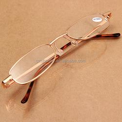 Reading Glasses with Plastic/Aluminum Pen Tube Case Red +3.5