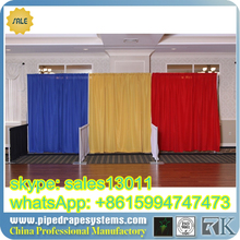 RK luxury curtain design aluminium pipe and drape/backdrop pipe and drape for show/wedding/meeting