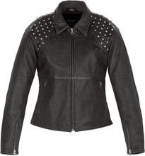 Stylish Premium Quality Cow grain Skin Fashion Leather Jacket For Women/ladies/girls