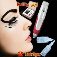 Auto Electric Micro Needle Derma Stamp Pen Skin Care Anti Aging 2 Cartridges Box #75286