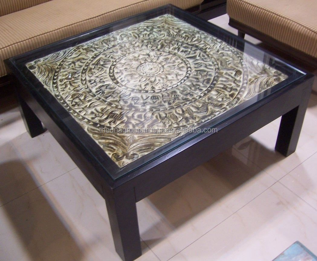 Center Table.JPG & Glass Top Indian Wooden Center Table - Buy Glass Top Indian Wooden ...