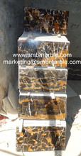 Black and Gold Polished Marble Tiles for Interior Flooring - Turkey
