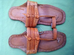 MEN US SIZE-10 RAJASTHANI PURE LEATHER HANDMADE MOJARI SANDAL INDIAN BOHO HIPPI