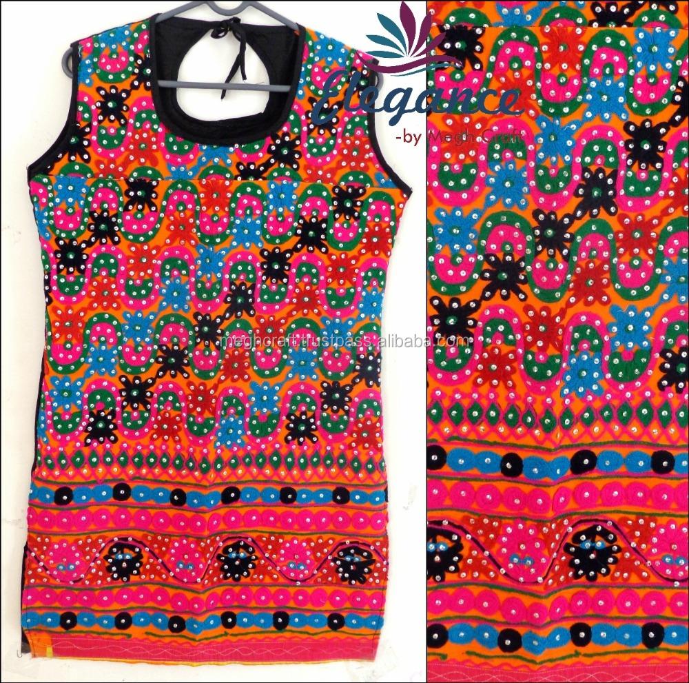 Wholesale Kutch Embroidered Kurtablousegujarati Hand