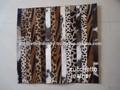 Alfombras de cuero/pelo en el cuero alfombras tigre de impresión