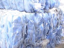 PET E Sheet blue baled recycled plastic scraps