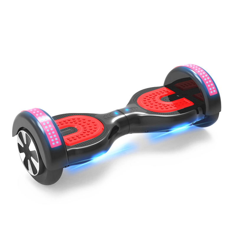 new two wheel smart balance electric scooter 6.5 inch hoverboard electric skateboard bluetooth with led light