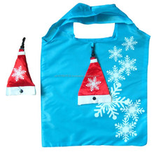 190T Foldable Christmas shopping bag