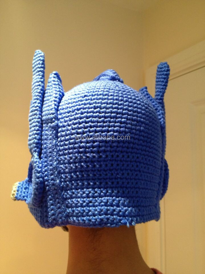 Crochet Pattern For Optimus Prime Hat : Funky Novelty Mens Hand Crochet Beanie Transformer Optimus ...