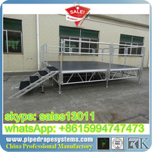 portable decks 4 steps mobile stage stair with handles
