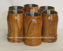 Cheap Price handmade Drinking Glass In Natural Wood