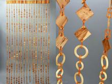 Decorative wooden door curtain
