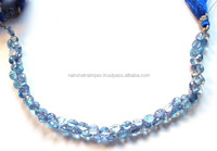 AA Quality Natural Sky Blue Topaz Onion Faceted Loose Beads Strand