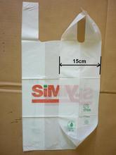 Goods from china Vietnam New Innovative Product printed white t-shirt bag,poly cheaper t-shirt bag,hdpe plastic t shirt bag