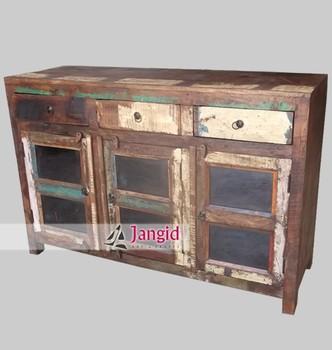 Glass Door Sideboard Indian Cabinet Furniture - Buy Indian Ethnic ...