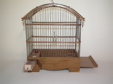Pet Bird Authentic Wooden Large Cage