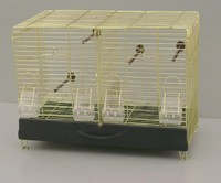Bird Breeding Double Breeder Brass Wire Cage