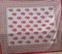 60S*40S 300TC 100% Block Print Bed Sheethotel wholesale 80*80s block print kantha bedding set