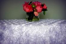 Rosette Satin Tablecloth & Overlay