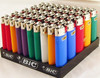 50 BIC lighters Regular Size with tray