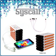 Portable mobile Phone Charger power bank and workable with Apple, Samsung, and any smartphone