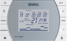 Automatic-Manual Using, Digital Lcd Screen, Programmable, Main Control Panel 5 LOCATION CONTROL WIRELESS Room Thermostat