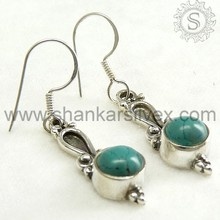 New Design 925 Sterling Silver Turquoise Earring, Gemstone Sterling Silver Jewelry, Indian Silver Jewelry ERCB1104-4