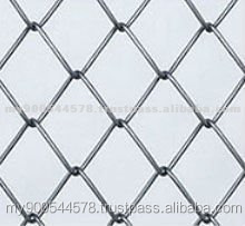 Chain link fence with 0.5-5.0mm wire diameter
